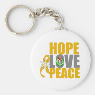 Christmas Holiday Hope Love Peace Appendix Cancer Keychains