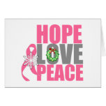 Christmas Holiday Hope Love Peace Breast Cancer