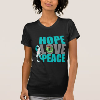 Christmas Holiday Hope Love Peace Cervical Cancer Shirt