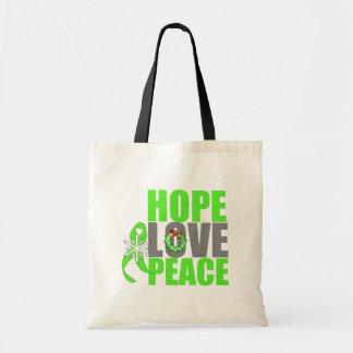 Christmas Holiday Hope Love Peace Lymphoma Bags