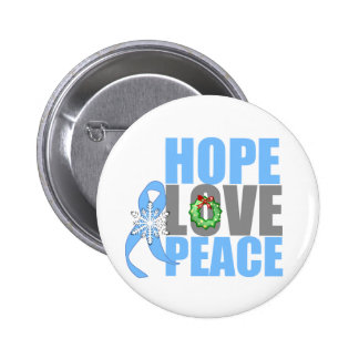 Christmas Holiday Hope Love Peace Prostate Cancer Pins