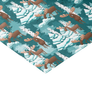 Christmas Holiday moose party tissue Tissue Paper