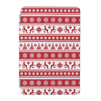 Christmas Holiday Nordic Pattern Cozy iPad Mini Cover