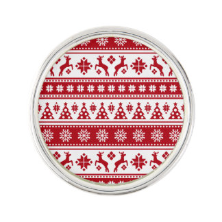 Christmas Holiday Nordic Pattern Cozy Lapel Pin