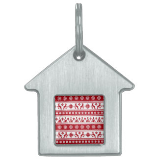 Christmas Holiday Nordic Pattern Cozy Pet Tag