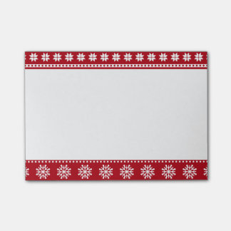 Christmas Holiday Nordic Pattern Cozy Post-it Notes