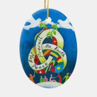 Christmas Holiday Ornament - World Peace