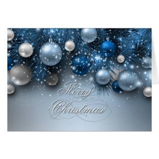 Christmas Holiday Ornaments - Blues Card