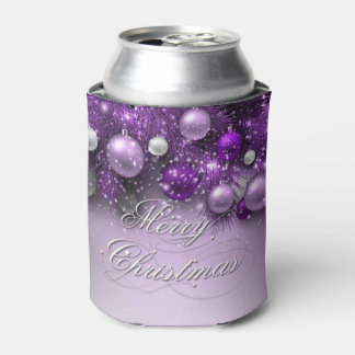 Christmas Holiday Ornaments - Purples Can Cooler
