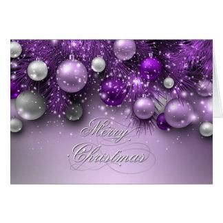 Christmas Holiday Ornaments - Purples Greeting Card