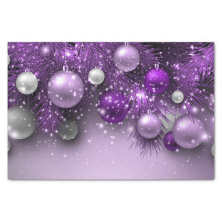 Christmas Holiday Ornaments - Purples Tissue Paper