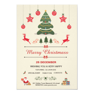 Christmas, Holiday Party Invitation