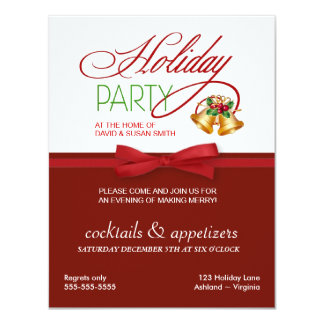 Christmas Holiday Party Stylish Invitations