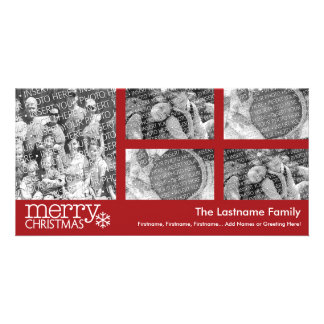 Christmas Holiday Photo Card: 5 photo collage