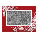 Christmas Holiday Photo Card with Snowflakes Postcard