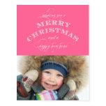 CHRISTMAS HOLIDAY PHOTO POSTCARD | PINK