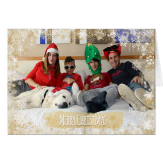 Christmas Holiday - Photo Snowflakes Frame Temp Card