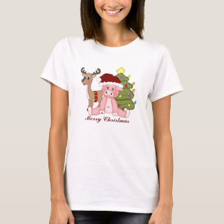 Christmas Holiday Pig t-shirt