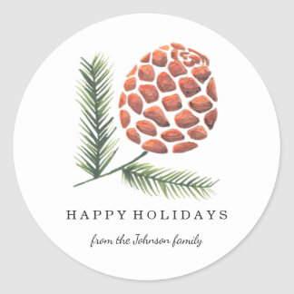 Christmas Holiday | Pine Cone Tree | Sticker
