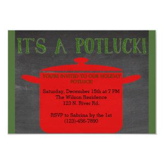 Christmas Holiday Potluck Card