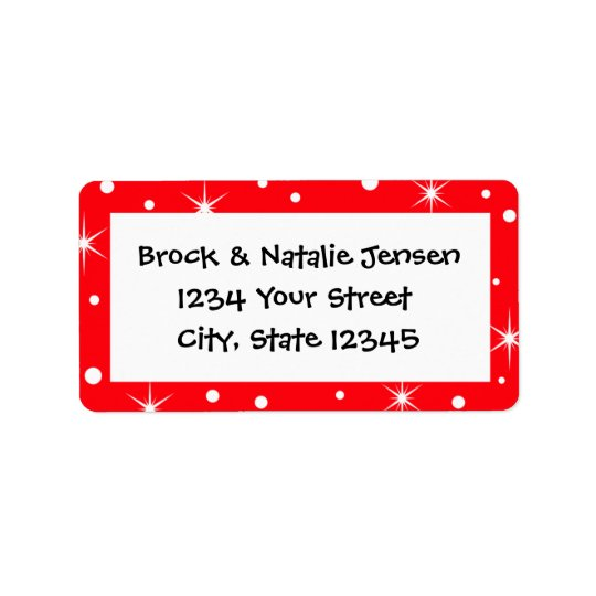 Christmas Holiday Pre-printed Address Label