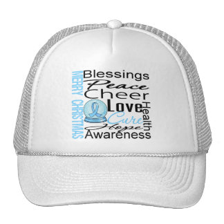 Christmas Holiday Prostate Cancer Collage Hat