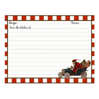 Christmas Holiday Recipe Cards Postcard