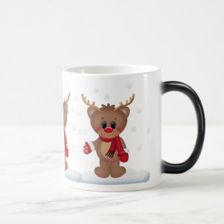 Christmas Holiday Reindeer morphing mug