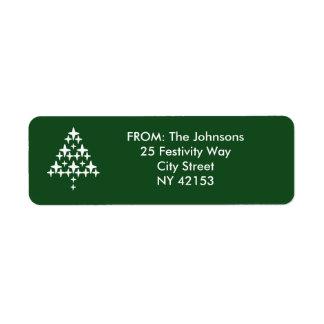 Christmas Holiday Return Address Labels - Green