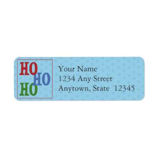 Christmas Holiday Return Address Labels-Ho Ho Ho Return Address Label