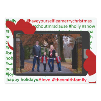 Christmas Holiday Selfie Santa Photo Card
