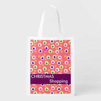 Christmas Holiday Shopping Reusable Bags