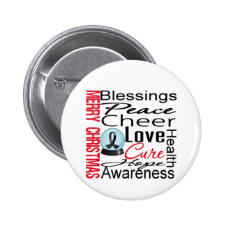 Christmas Holiday Skin Cancer Collage Pinback Button