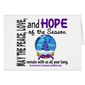Christmas Holiday Snow Globe 1 Alzheimer's Disease Card