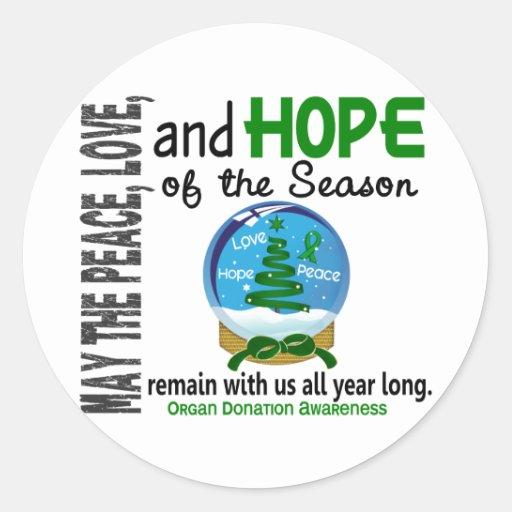 Christmas Holiday Snow Globe 1 Organ Donation Stickers
