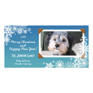 Christmas Holiday Snowflake Personalized Photo Card