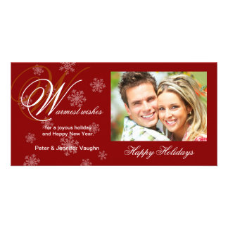Christmas Holiday Snowflake Photo Cards