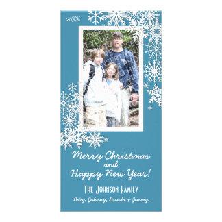 Christmas Holiday Snowflake Photo Greeting Card