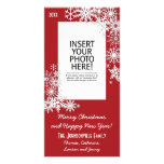 Christmas Holiday Snowflake - Red Photo Cards