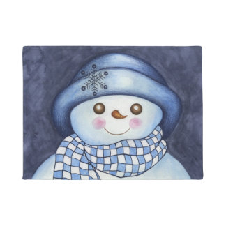 Christmas Holiday Snowman Doormat Rug