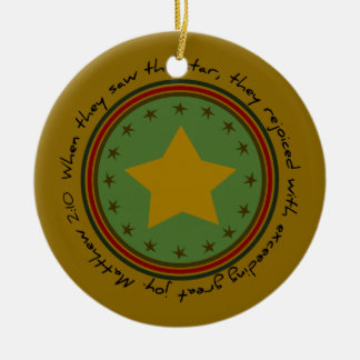 Christmas Holiday Star Bible Verse Round Ornament