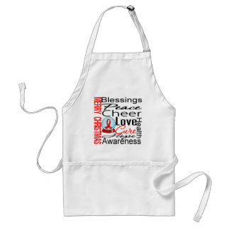 Christmas Holiday Stroke Ribbon Collage Aprons