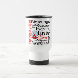 Christmas Holiday Stroke Ribbon Collage Coffee Mug