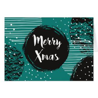 Christmas Holiday - Teal Merry Xmas Card