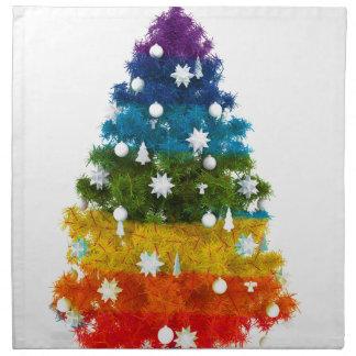 christmas holiday tree colors happy joy napkin