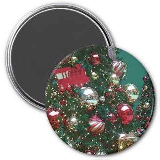 Christmas Holiday Trim The Tree Retro Magnet