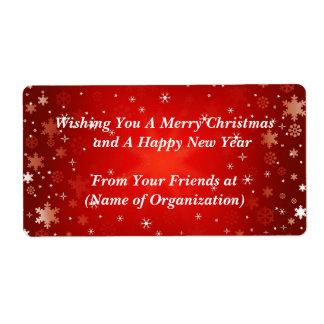 Christmas, Holiday, Wedding Custom Wine Label Shipping Label