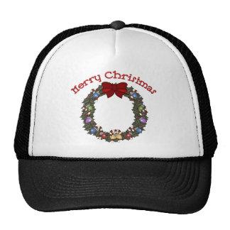 Christmas Holiday Wreath - Customizable Trucker Hat