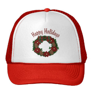 Christmas Holiday Wreath - Customizable Hat