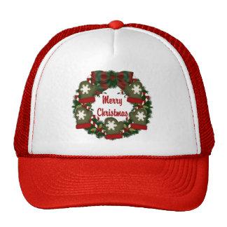 Christmas Holiday Wreath - Customizable Hats